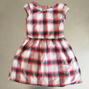 GAP Cotton Flannel Red Black and White Girls Dress